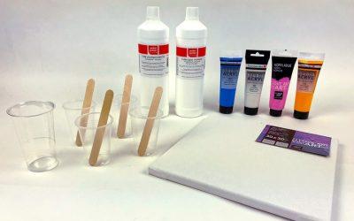 Vorbereitung für das Acrylic Pouring