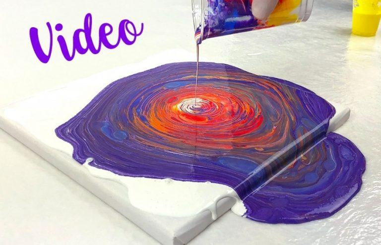 Acrylic Pouring Technik erklärt: Swirl / Tree Ring Pour