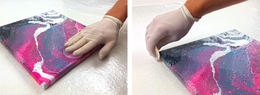 Fluid Painting Finish Makeup Silikon Schwamm Arbeitsschritte