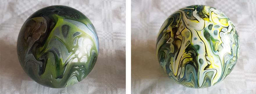 acrylic pouring auf glas
