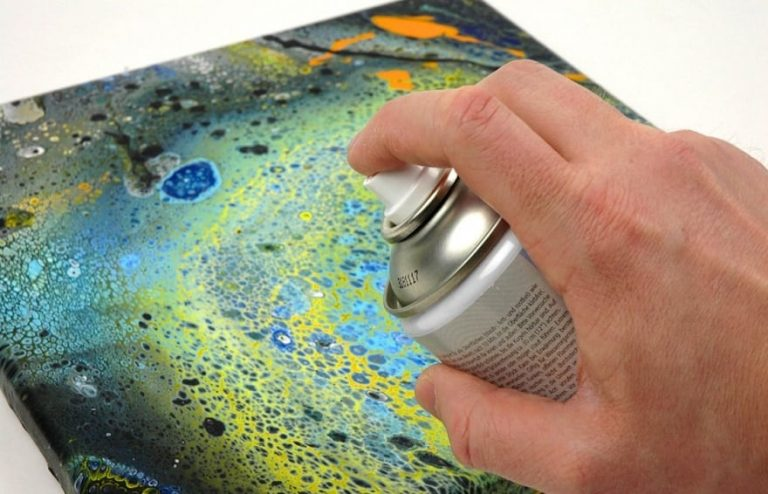 Drying and Sealing your Acrylic Pourings