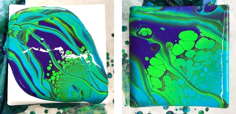 silkonöle test acrylic pouring