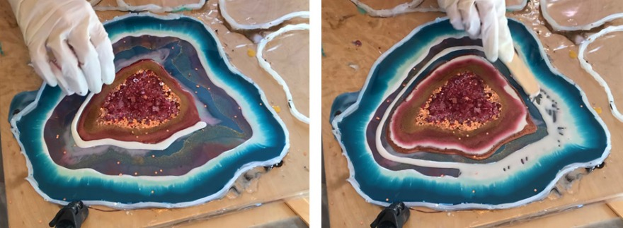 free form geode anleitung