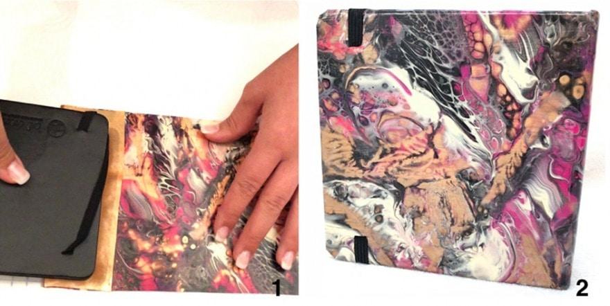 acrylic skin sticker buchumschlag