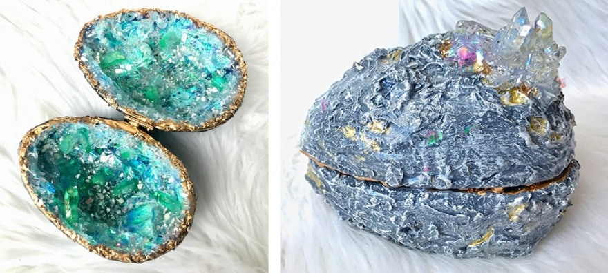 DIY resin geode egg