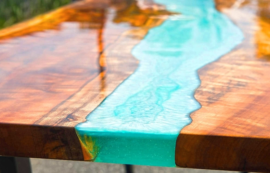Epoxy Resin River Table with Wood step by step tutorial