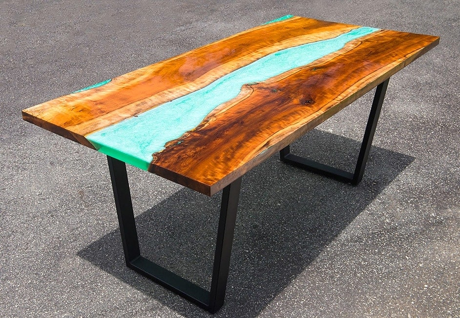 Tutorial Epoxy Resin River Table With Wood