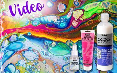 Produkttest: PEBEO Pouring Medium, Studio Acrylfarben und Silikonöl
