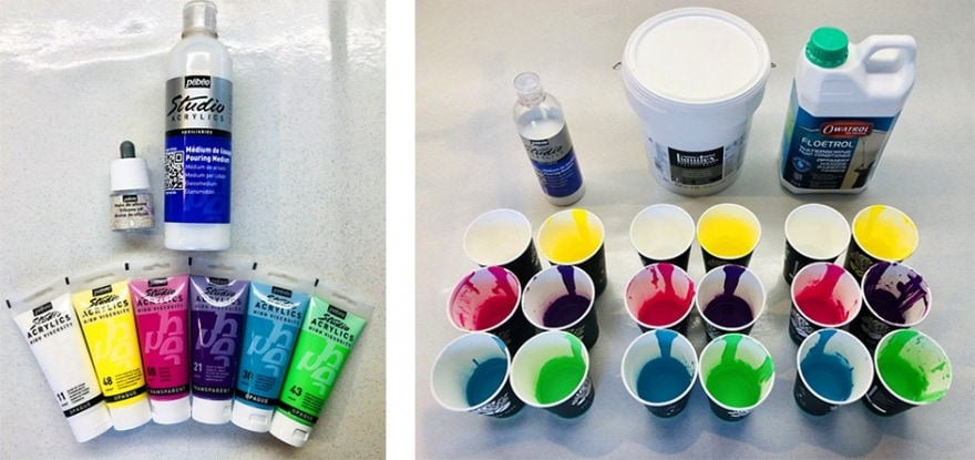 Review Pebeo Paint Pouring Medium And Silicone Oil