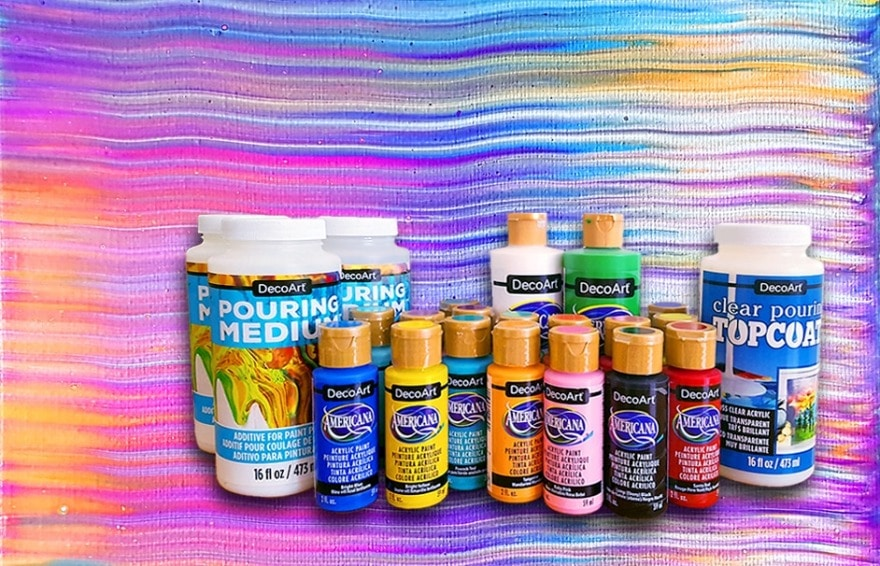Review: DecoArt Americana Acrylic Paint, Pouring Medium and Top Coat