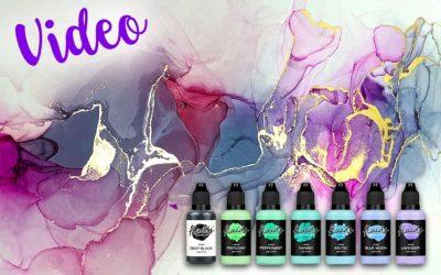 Produkttest Octopus Fluids: Transparente und Opake Alcohol Inks plus Blending Solution