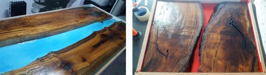 tafel met epoxy