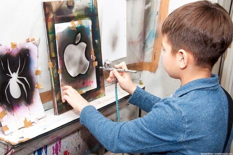 Airbrush für Kinder – Sicheres Airbrushen mit Kindern