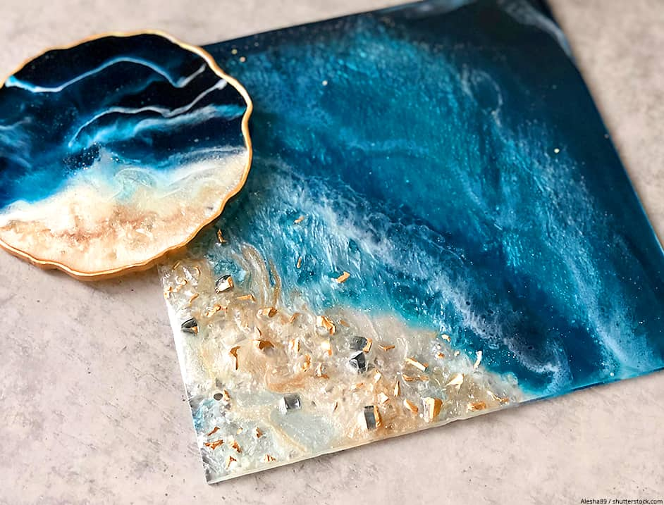 what kind of paint to use on resin