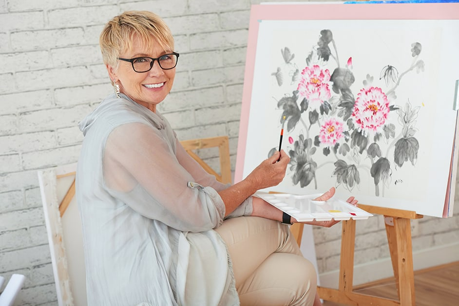 how to watercolor flowers