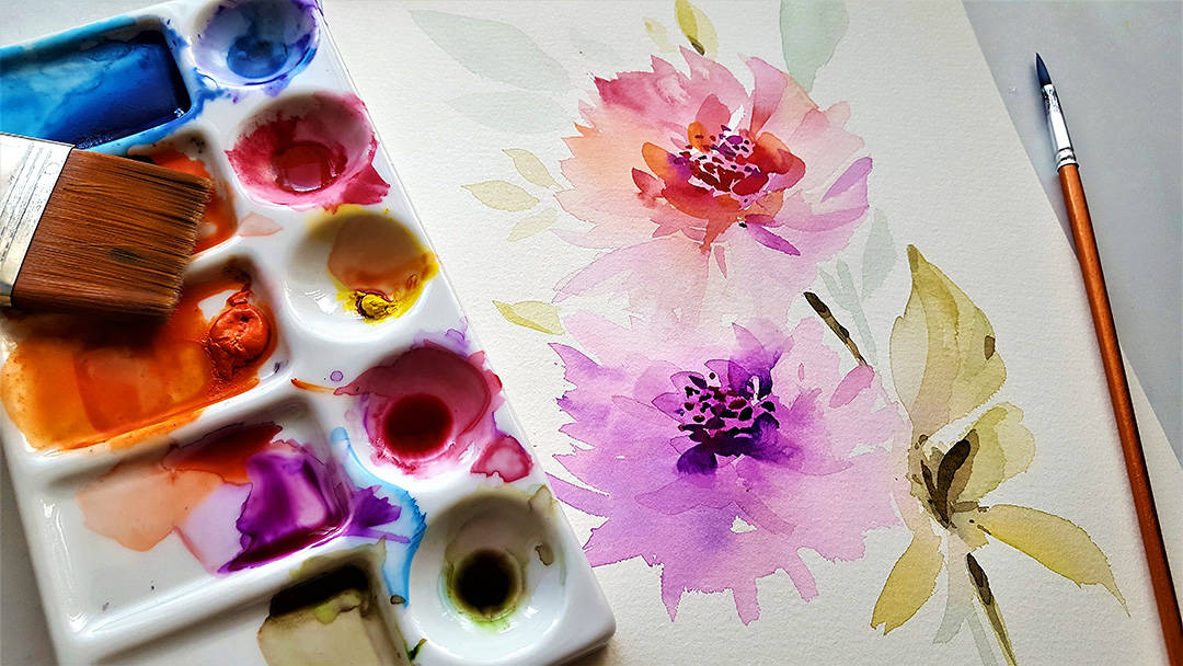 Watercolor Flowers –Guide how to paint Watercolor Flowers