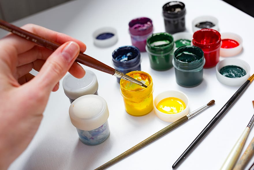 how to thin out acrylic paint