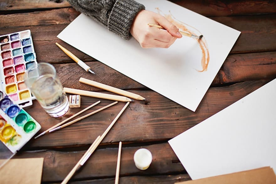 Mixing Brown Paint for Watercolors