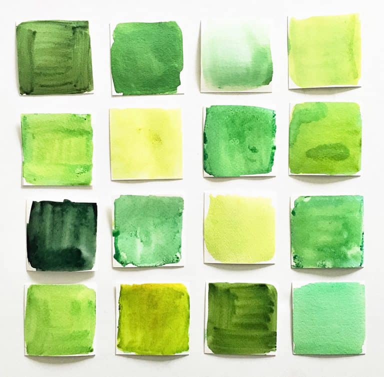 What Colors Make Green? – Tutorial How to Mix Different Shades of Green