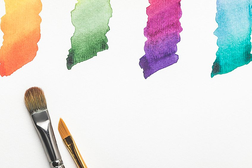 usage of watercolor brushes