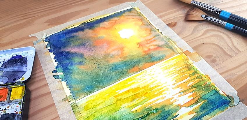 watercolor paint brush handle