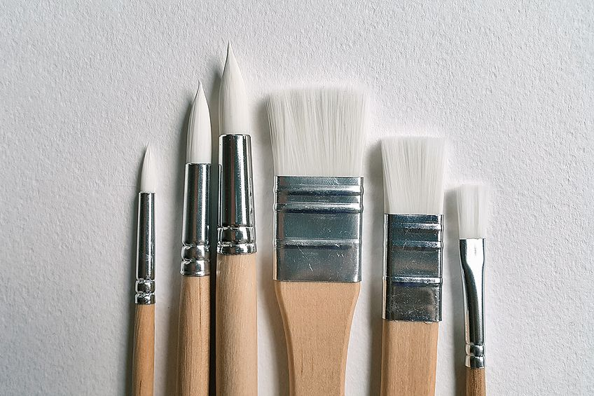 what size watercolor brushes do i need