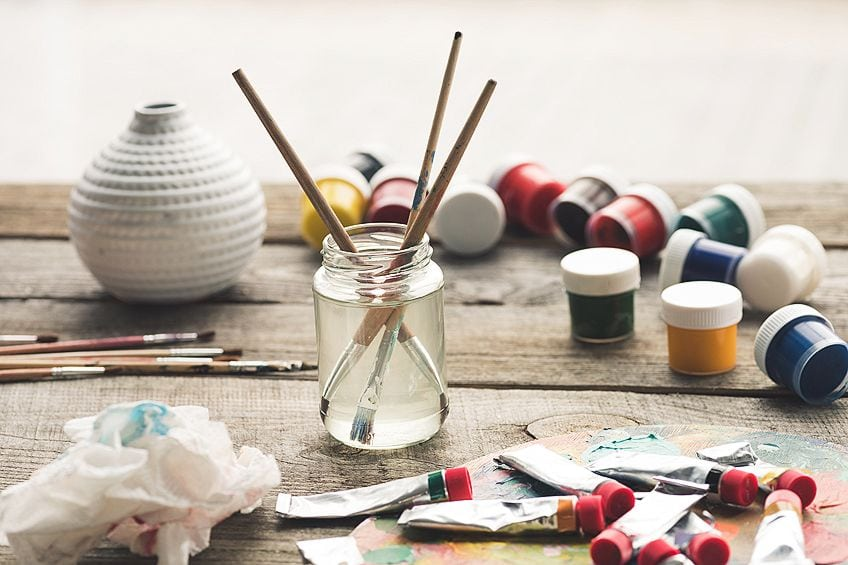 how to clean old paint brushes