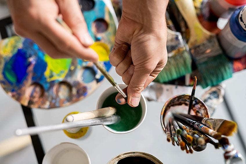 how to get dried paint out of paintbrush