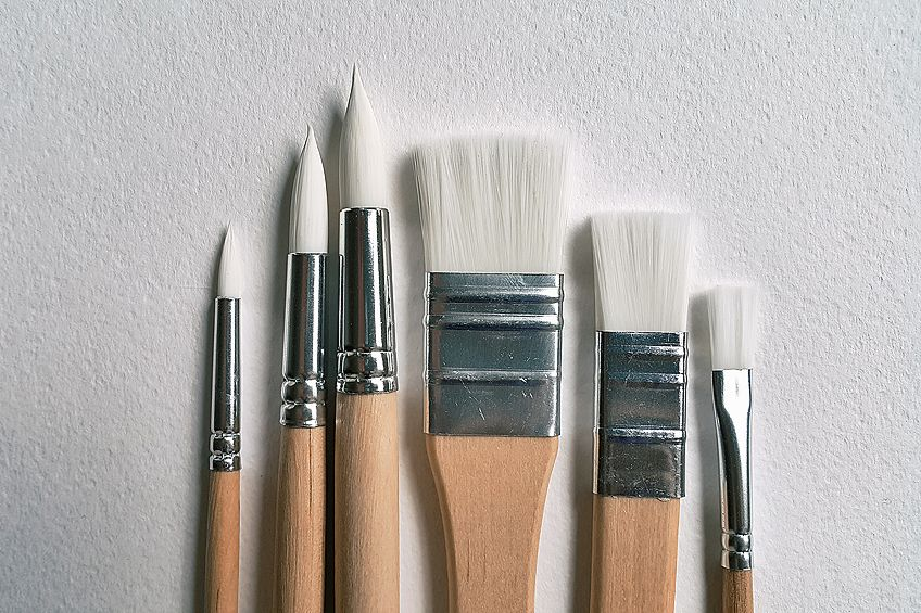how to wash paint brushes