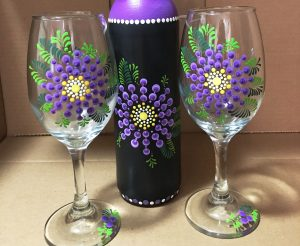 how to paint wine glasses
