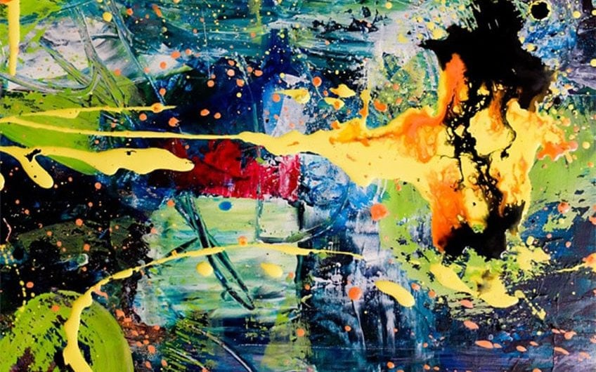 acrylic paint abstract