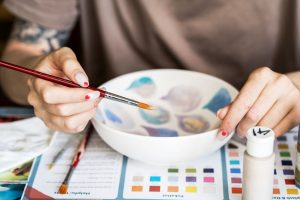 Painting Ceramics with Acrylic Paint