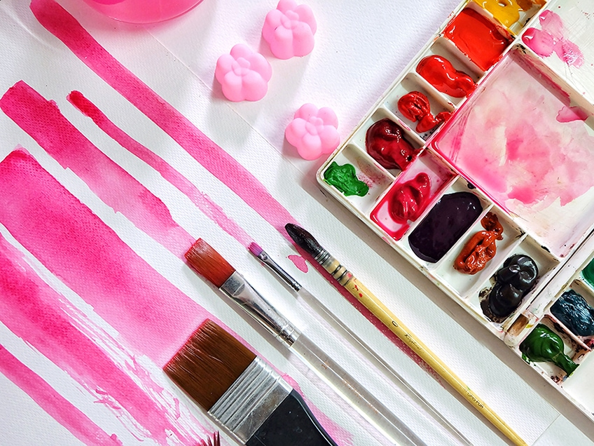 farbe pink mischen